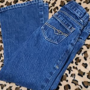Old Navy Bootcut Jeans Girls 5T/5 Heart Pockets